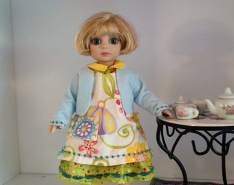 Ann Dress Pattern - Doll Clothes PDF - Patsy Dress Pattern - 10 inch Doll PDF