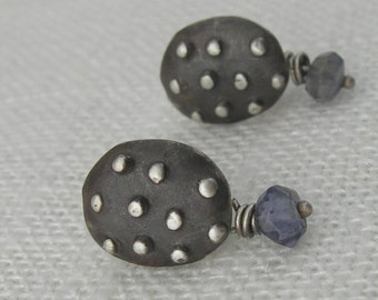 Polky Dots With Drops Earrings
