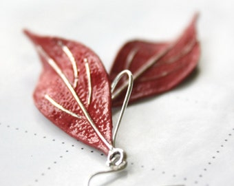 Leaf Earrings, Gift For Her, Gift For Girlfriend, Patina, Gift For Wife, Gift Ideas, Silver Earrings, Bridesmaid Jewelry
