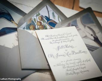 Digital Wedding Invitation Calligraphy