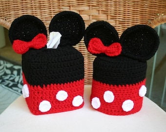 Mickey/Minnie Mouse Tissue Box Cover