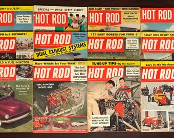 1953 Complete Year of Hot Rod magazines