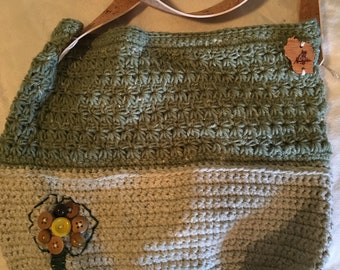 Crochet Bag with Antique Buttons