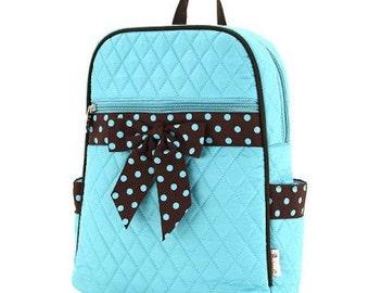 Personalized Backpack Diaper Bag, Turq/brown diaper bag, Easy Carry diaper bag,Diaper Bag, Baby gift,Monogrammed Diaper bag, Baby, Boy, Girl