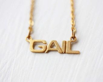 Vintage Name Necklace - Gail