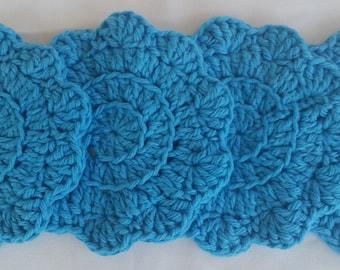 cotton crochet coaster,blue coaster set,cotton coaster,crochet coaster,blue cotton coaster,blue crochet coaster,blue housewares kitchen