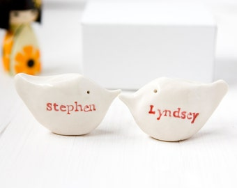 Personalized Gift Love Birds LARGE Size Couples Wedding Engagement