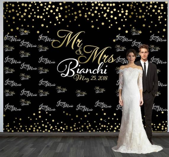 Wedding Photo Backdrop Custom Wedding Backdrop Personalized