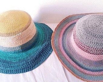Beautiful hat handmade multicolor