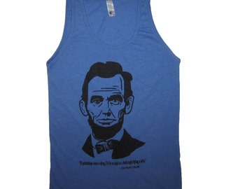 abraham lincoln patriotism drug tank top sleeveless t shirt top funny cute america USA united states 4th of july red white blue new graphic
