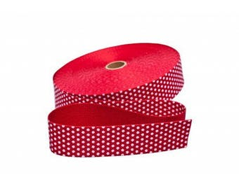 Strap 30mm red dot cotton from 50 cm