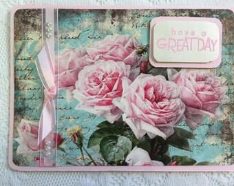Thinking of You, Cards, Elegant, Feminine, Handmade, Beautiful