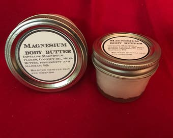 Magnesium Body Butter, Essential oils