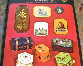 The Basics of Decoupage by Sally Lutz ~ All You Need To Know To Successfully Decoupage - Rare, Out of Print, 1970 edition