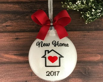New Home Ornament, Christmas Ornament, Personalized, Housewarming Gift, House Ornament, Our New Home, New House Gift, Custom Ornament, Gift