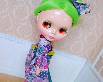 Rabbit Kimono - Outfit For Blythe Doll