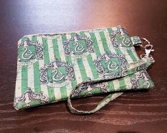 Slytherin Wristlet Bag