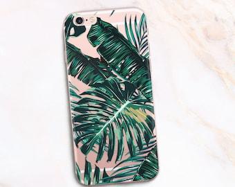 iPhone 8 case Palm Leaves, iPhone 7 / 8 Case Leaves iPhone 6 Case Palms, iPhone 5 Case Leaf, Phone case Green Palm iphone ten cover 1