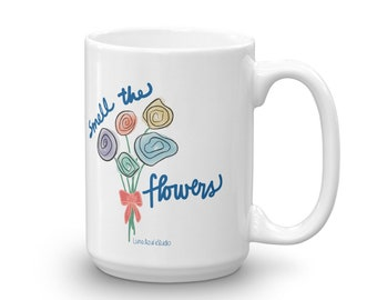Mug Smell the Flowers