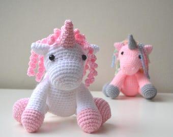 Free Amigurumi Unicorn Pattern : Unicorn pattern etsy