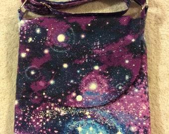 Galaxy, Sparkling Star Adjustable Shoulder Bag