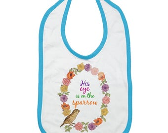 His Eye is on the Sparrow Infant Jersey Bib (NY)