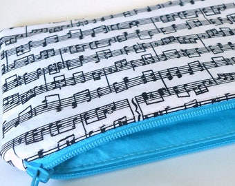Zipper pouch for Music lovers Pencil case Coin purse Custom Choose your size for Band kids Music teachers and Music lovers
