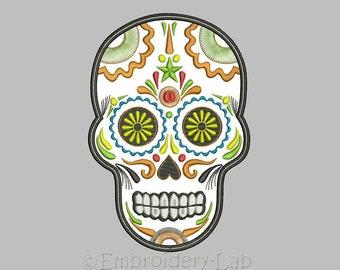 Sugar Skull Dia De Los Muertos applique - machine embroidery design