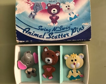 Animal Scatter Pins Qty 3