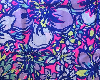 Various sizes of Pink Cat Wakin cotton poplin  ~Authentic Lilly Pulitzer fabrics~