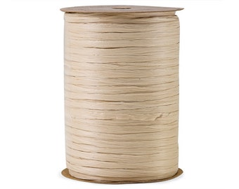 "Raffia Ribbon Ivory 100 yards  Gift Wrap  Bridal Shower  Wedding Decor Ribbon  Baby Shower  Favor Box Ribbon - 1/4"" - 100 yard spool"