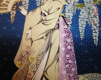 Kona Bay Geisha Fabric Design Geis.16 OOP 2012 Panel