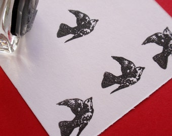 Flying Bird Rubber Stamp -  Handmade by BlossomStamps