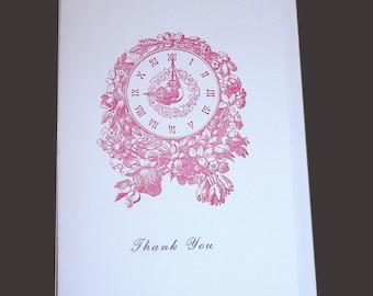 3 Letterpress Printed Blank Cards - Nostalgic, Whimsical Designs - Book Worm, Victorian, Children & Animals