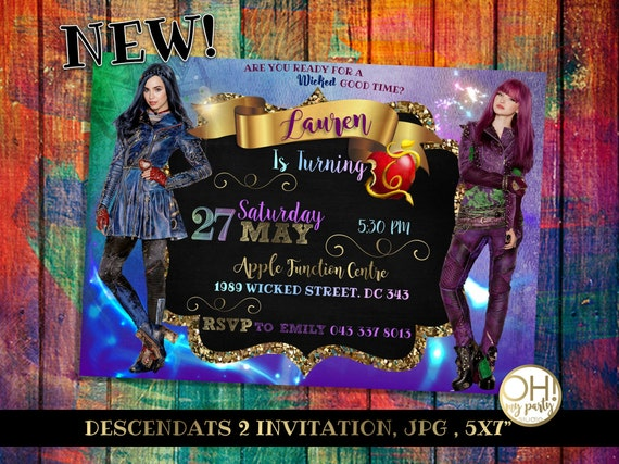 Descendants Invitationsdescendants Party Descendants Party