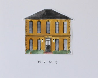 Custom House Print 8x10