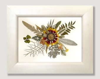 Framed Herbarium Pressed Flowers Pressed Botanical Herbarium Pressed Flowers Art Framed Dried Flower Dried Flowers Art Framed Dried Flowers