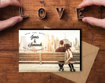 Charming Save the Date Magnets, personalized, photo magnets, engagement, wedding, personalized wedding, save the date + Envelopes