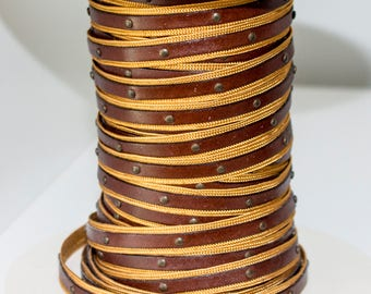 10 mm flat leather cord