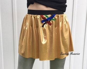 Golden Robot Running Skirt