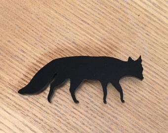 Black Fox Brooch