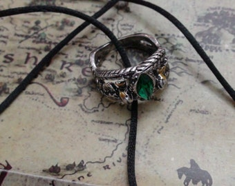 Aragorn's Ring of Barahir  From Lord Of The Rings Sizes 6 - 8 - 9 or 10 on a Necklace