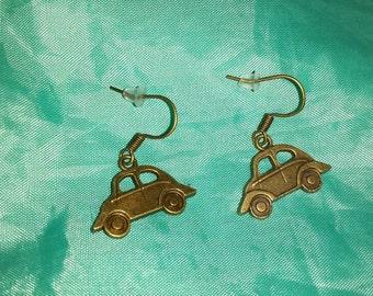 Vintage car vw Beetle earrings
