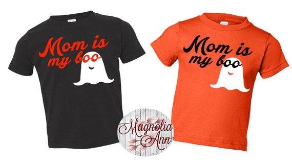 Mom Is My Boo, Ghost, Halloween, Toddler T-Shirt in 11 Different Colors in Sizes 2T-5/6