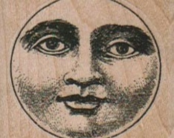 Rubber stamp Moon Circle cling stamp, unmounted or wood Mounted  scrapbooking supplies  5914