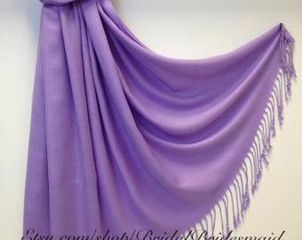 Wedding Season SALE - LAVENDER PASHMINA - lavender shawl - shawls in lavender - spring lavender scarf - purple scarf - purple pashmina