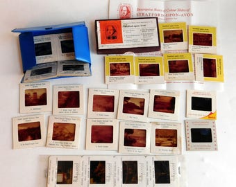 Lot of Vintage Souvenir Photographic Slide Transparencies + A Few Movie Promo Stills - London, Stratford Upon Avon, Grand Canyon Photos