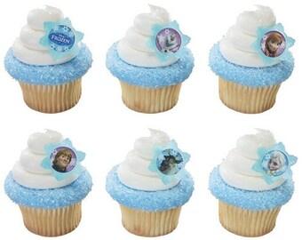 24 Disney Frozen Cupcake Rings