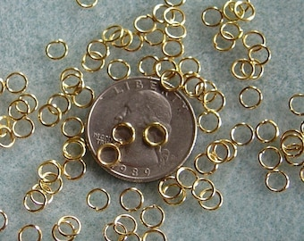 Gold Plated 5mm Jump Rings 619