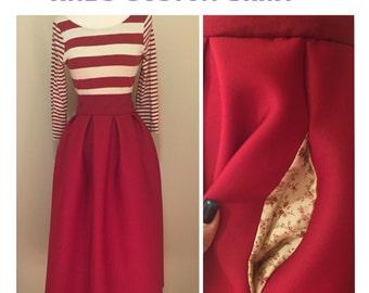 Scuba /Neoprene Custom Pleated Skirt